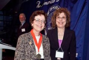 Francine Blau (right) with Rebecca Blank